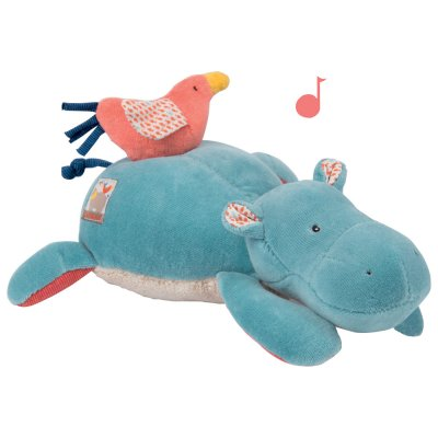 Peluche musicale hippopotame les papoum Moulin roty