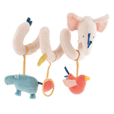 Jouet de lit bébé spirale d'activités les papoum Moulin roty