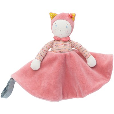 Doudou attache tétine mademoiselle et ribambelle Moulin roty