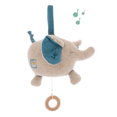 Peluche bébé musicale éléphant sous mon baobab Moulin roty