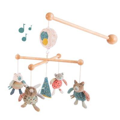 Mobile bébé musical les jolis trop beaux Moulin roty