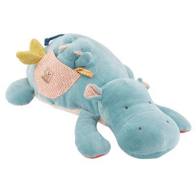 Jouet d'éveil bébé grand hippopotame d'activités les papoums Moulin roty