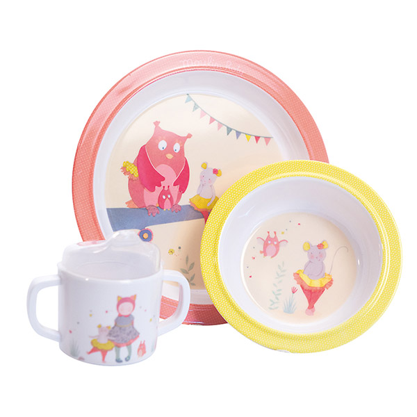 Coffret repas mademoiselle et ribambelle Moulin roty