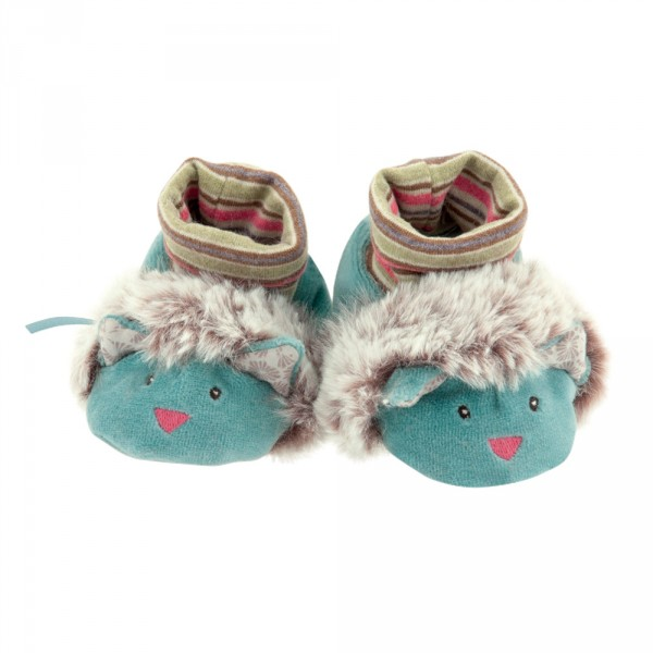 Chaussons bébé chats les pachats Moulin roty