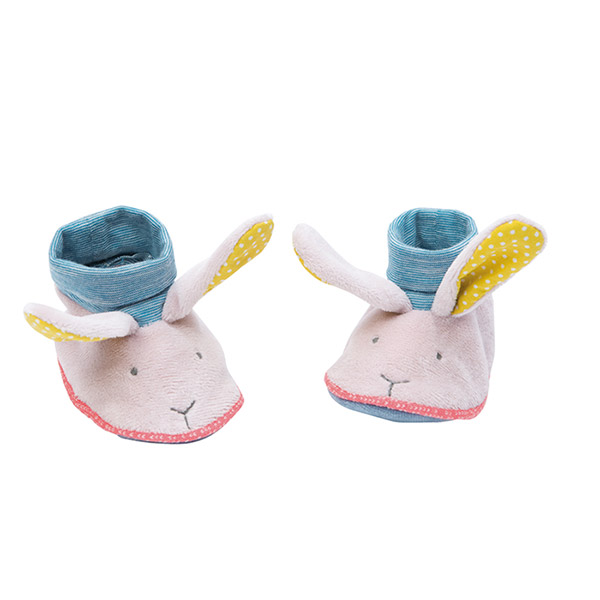 Chaussons bébé lapin mademoiselle et ribambelle Moulin roty