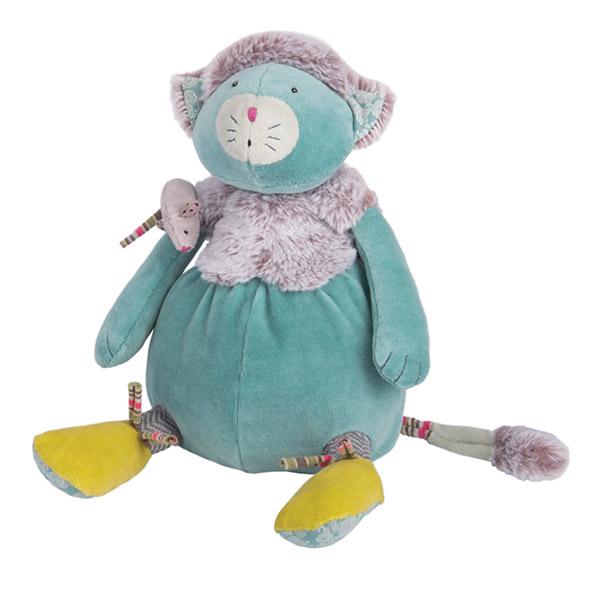 Peluche bébé chat bleu les pachats Moulin roty