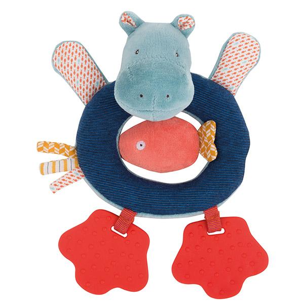 Anneau hochet hippopotame les papoum Moulin roty