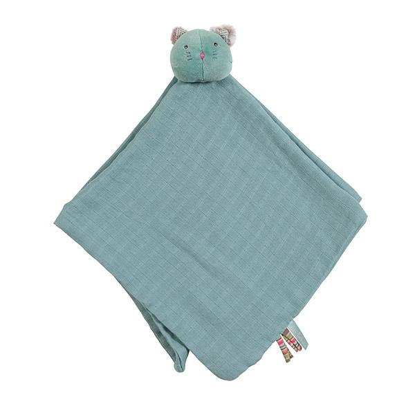 Doudou lange chat bleu les pachats Moulin roty