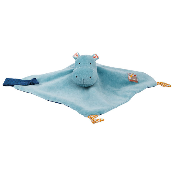 Doudou hippopotame les papoum Moulin roty