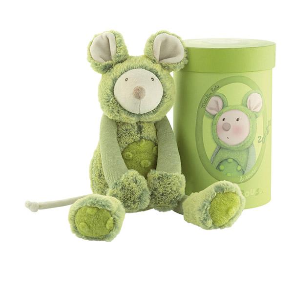 Peluche bébé souris vert les zazous Moulin roty