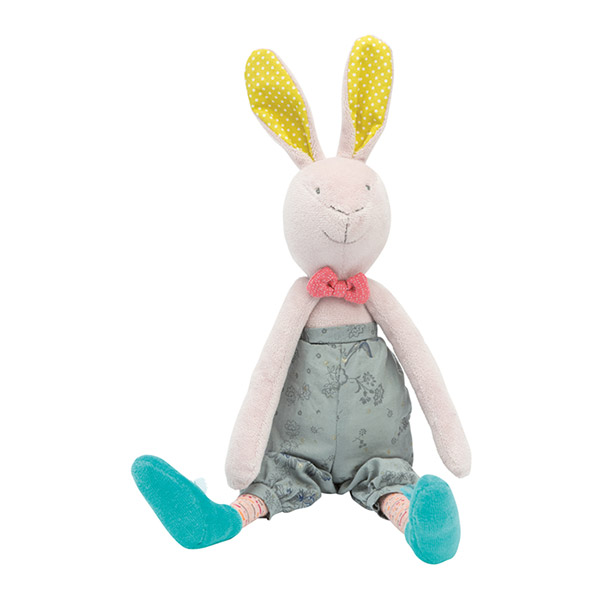 Peluche bébé lapin mademoiselle et ribambelle Moulin roty