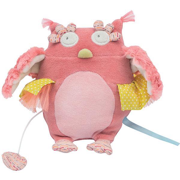 Peluche musicale chouette mademoiselle et ribambelle Moulin roty