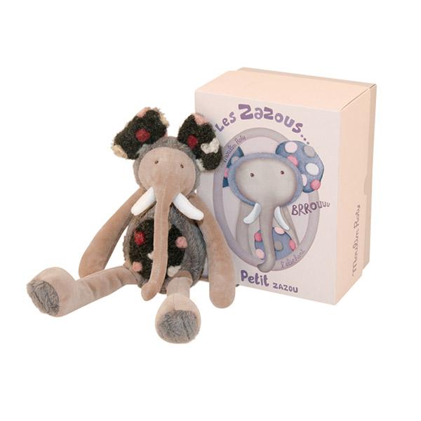 Peluche bébé petit éléphant les zazous Moulin roty