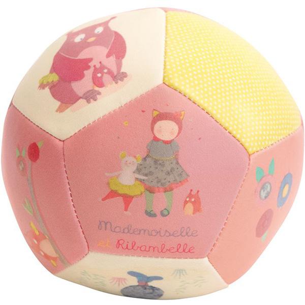 Jouet d'éveil bébé ballon souple 10 cm mademoiselle et ribambelle Moulin roty