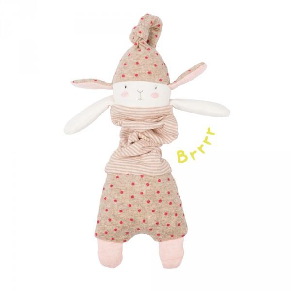 jouet d 39 veil b b lapin vibreur les petits dodos sur allob b. Black Bedroom Furniture Sets. Home Design Ideas