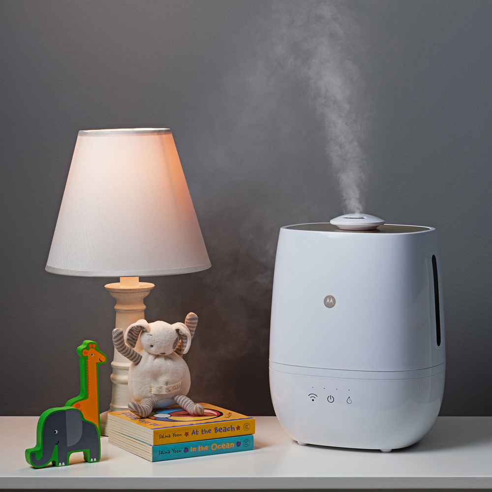 Humidificateur connect avec purification de l 39 air et de l for Humidificateur de chambre