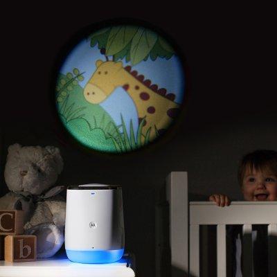 Projecteur de sons et lumières connecté avec surveillance audio smart nursery Motorola