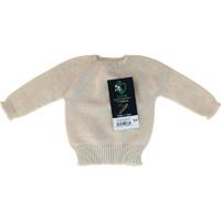 Pull sans couture ecru 100% coton bio