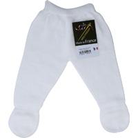 Pantalon a pieds sans couture blanc pour bebe