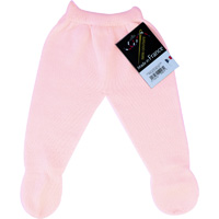 Pantalon a pieds sans couture rose pour bebe