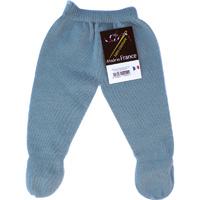 Pantalon a pieds sans couture bleu ourson pour bebe