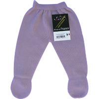 Pantalon a pieds sans couture lilas pour bebe