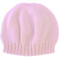 Bonnet bebe sans couture rose clair