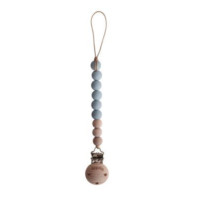 Attache sucette mushie cleo gris nuage Mushie by bibs