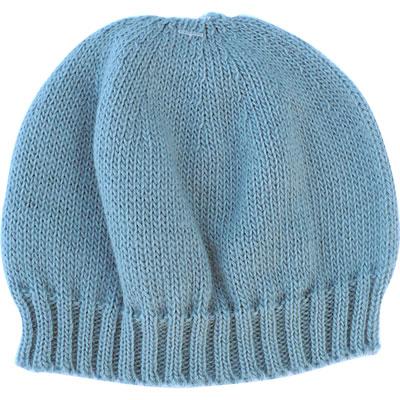 Bonnet bebe sans couture bleu ourson Mlt