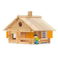 Jeujura - jouet la maison en rondins - 135 pieces