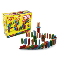Jeujura - jouets tecap dominos rigolos - 152 pieces