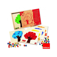 Goula - jouet jeu de l'arbre dans un coffret bois