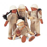 Djeco - jouet 4 rangers + accessoires