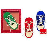 Goula - jouet chaussures a lacer - coloris aléatoire