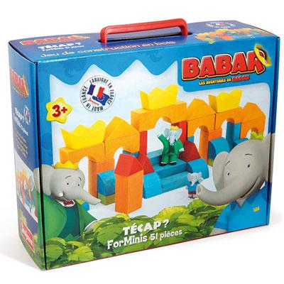Jeujura - jouet tecap forminis - 51p - babar Njb