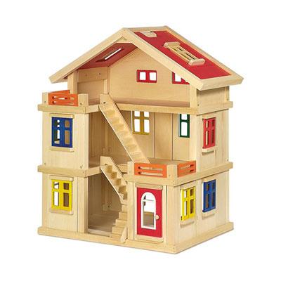 Legler jouets en bois - jouet maison de poupée deluxe Njb