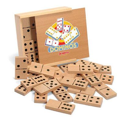Jeujura - jouet gros dominos en bois - coffret serigraphie Njb