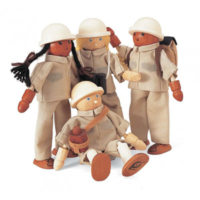 Djeco - jouet 4 rangers + accessoires Njb