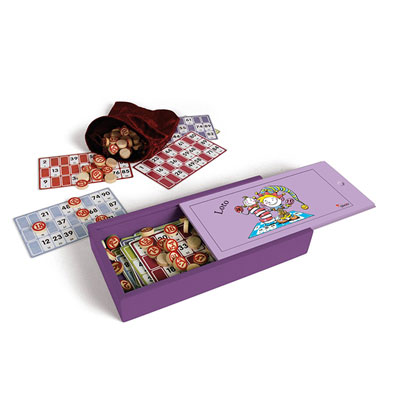 Jeujura - jouets coffret bois loto acidule Njb