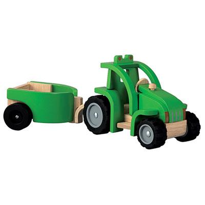 Plantoys - jouet tracteur avec remorque Njb