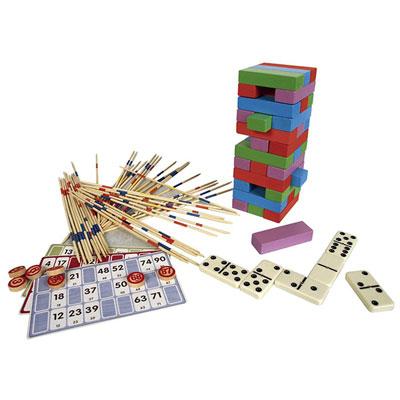 Jeujura - jouets coffret bois multijeux acidule Njb