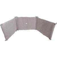 Tour de lit bébé 45x190cm taupe