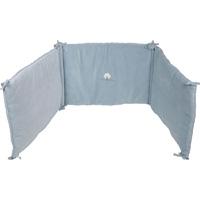 Tour de lit bébé 45x190cm aqua