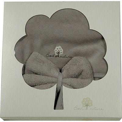 Sortie de bain bébé avec gant taupe Eveil et nature