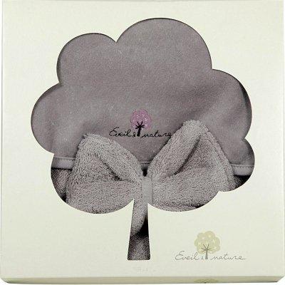 Sortie de bain bébé avec gant iris Eveil et nature