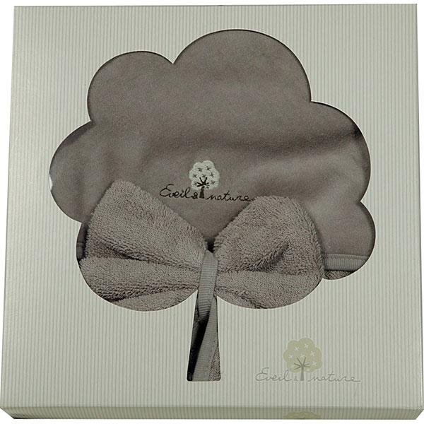 Sortie de bain avec gant taupe Eveil et nature