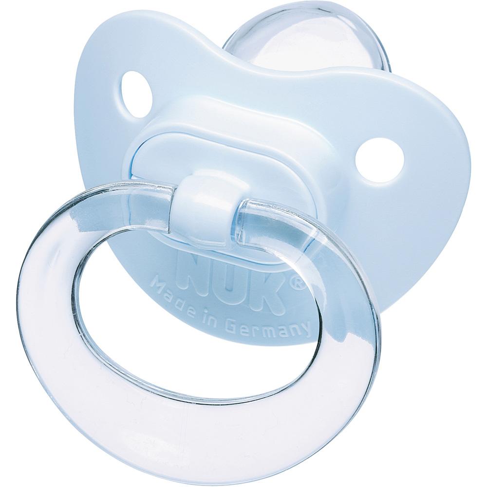 lot de 2 sucettes silicone taille 2 bleu de nuk sur allob u00e9b u00e9