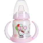 Biberon sans bpa d'apprentissage hello kitty 150ml pas cher