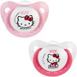 Lot de 2 sucettes silicone taille 2 hello kitty pas cher