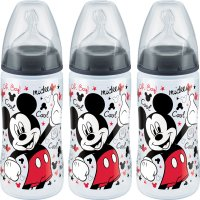 Lot de 3 biberons first choice+ mickey 300ml